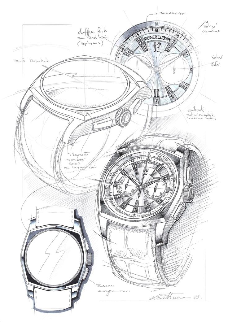 Design sketch for the La Monégasque collection
