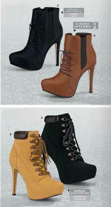 Botines de Andrea, coleccion andrea cerrado. Botines con agujetas para mujer, botines con amarre, botin de moda, zapatos andrea, botines tacon aguja, botines cortas, botas
