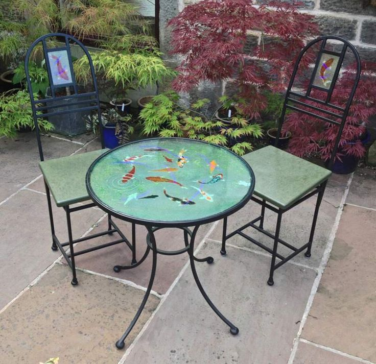 Hawkhill Forge Fused Glass Table Top