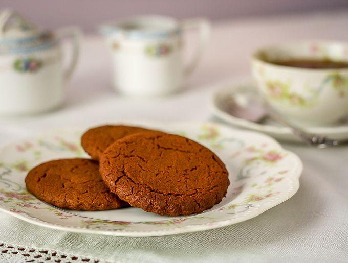 Aunt Lous' cinnamon snaps. A crisp cookie similar to a ginger snap but ...