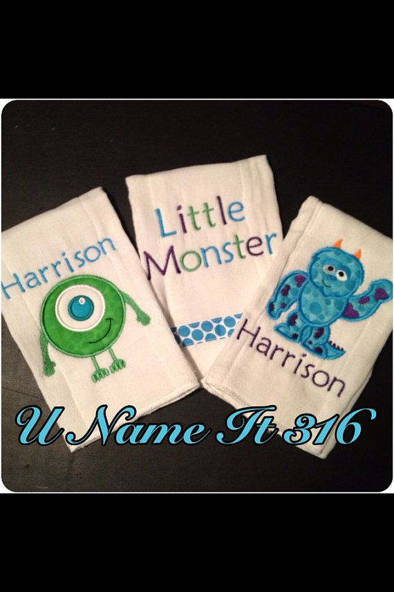 Hey, I found this really awesome Etsy listing at http://www.etsy.com/listing/155507811/monsters-inc-burp-cloths