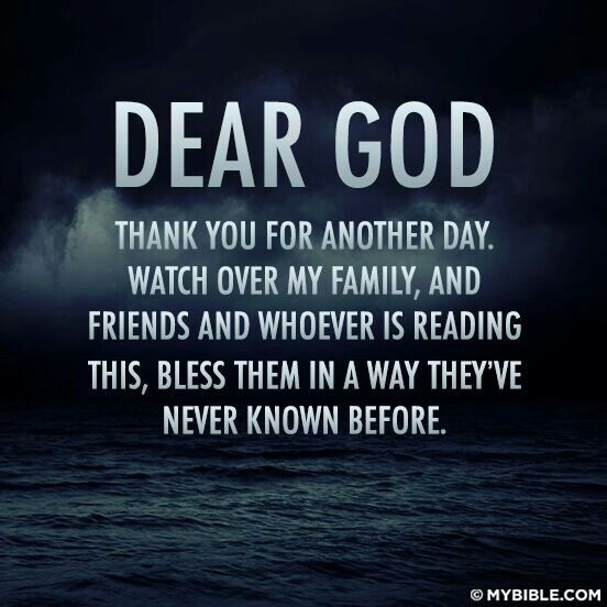 Dear God, thank you....