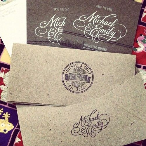 I was asked to do some lettering & a seal to be used on wedding invite/savethedates. While I didn't have a hand in the overall plan, I'm stoked on how my contribution was used & how the overall project turned out. #lettering #script #stamp #weddinginvite (Taken with Instagram)Design Inspiration, Rustic Elegant, Paper Bags, Print Design, Wedding Invitations, Prints Design, Graphics Design, Fonts, Design Editorial