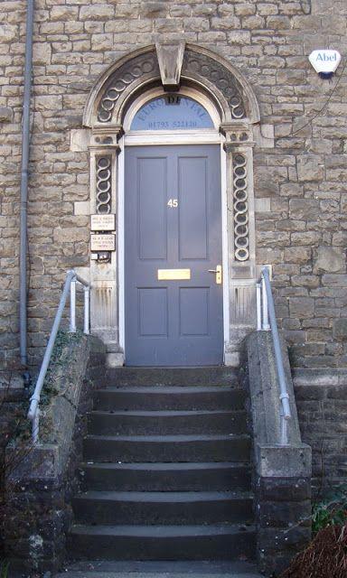 Victorian Terraced House Front Door Steps Doors