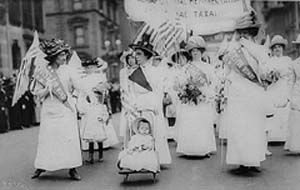 In 1920 the 19th amendment passed, giving women suffragists the right to vote. The right of United States citizen to vote shall not be denied because of their sex.
