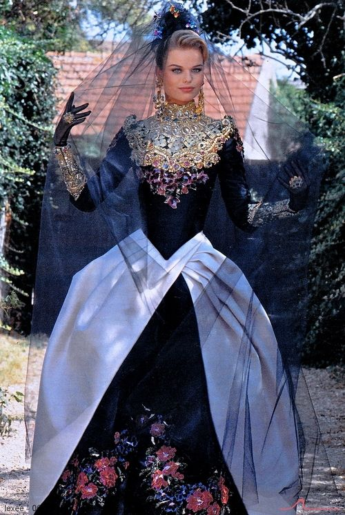 I say losse the over skirt and it would be better. Christian Lacroix A/W 1992/'93Model : Veronica Blume
