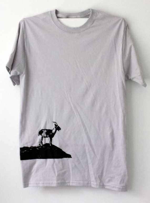 Mountain Goat Shirt  For Hikers Mountain Climbers by TShayTShirts