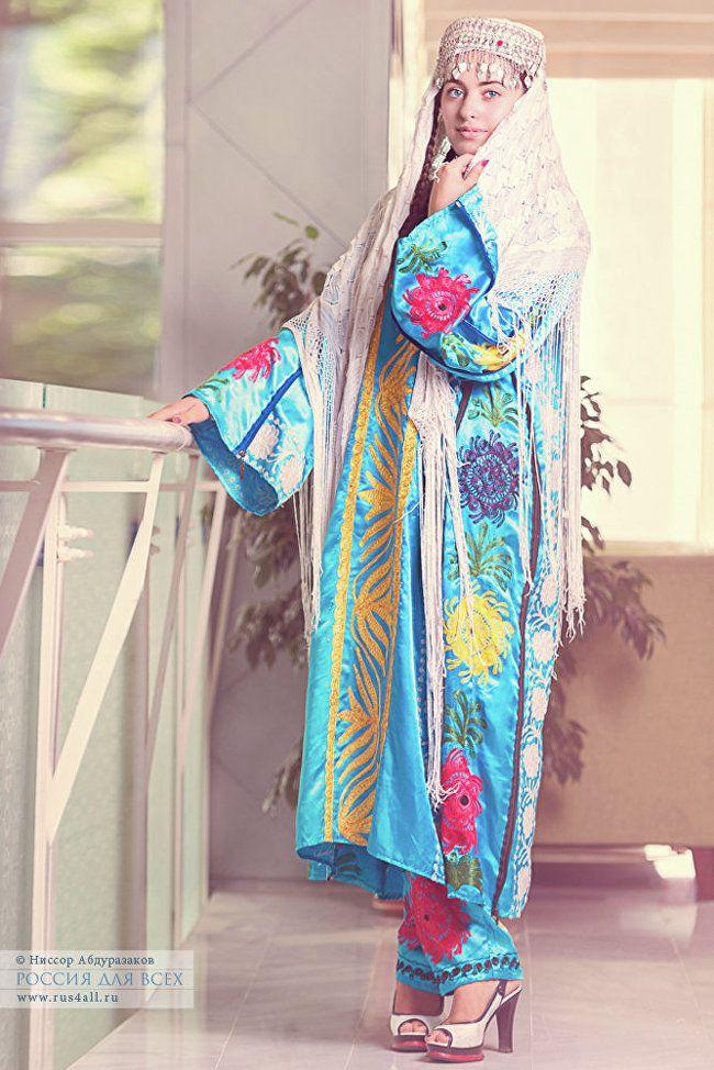 женская таджикская национальная одежда фото тигр воды