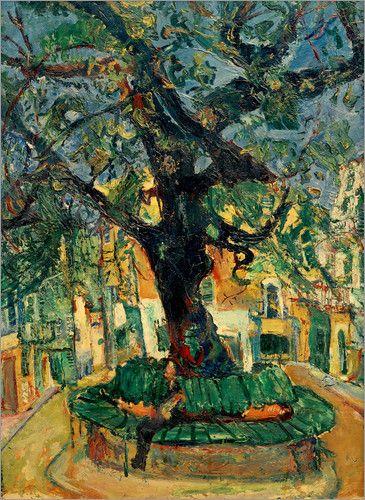 Chaim Soutine, Le grand arbre de Vence on ArtStack #chaim-soutine #art