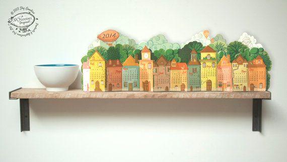 2014 Calendar  3D Landscape Desk Calendar made of by SkyGoodies, $4.99