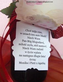 mojakreatywna-agapa : 40 rocznica ślubu - obrączki na wino