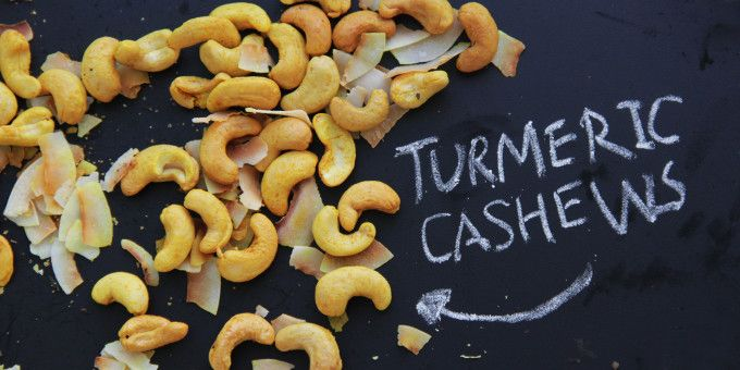 Feeling peckish? Have a go at our Turmeric + Coconut Cashews