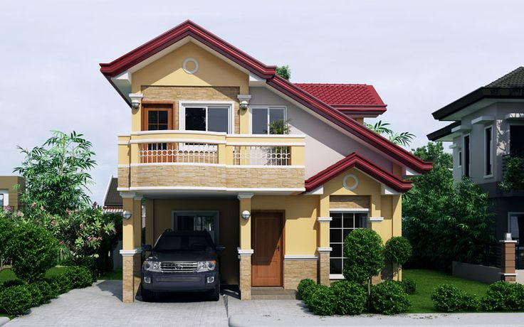 Sarah - Dramatic Open to Below Two Storey House   Pinoy ePlans - Modern House Designs, Small House Designs and More!