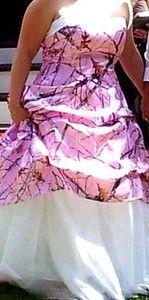 pink camouflage wedding dress | pink+camouflage+wedding+dress | Custom Pink Camo Realtree Wedding ...