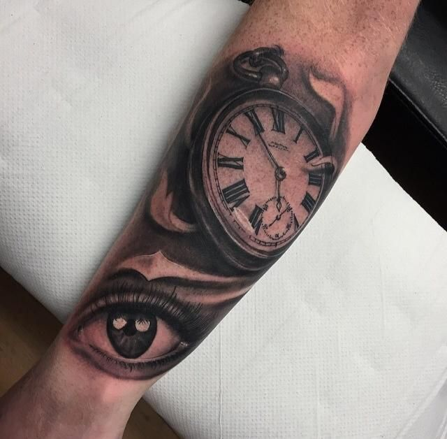 17 best images about tat inspiration on pinterest around for Eye with clock tattoo