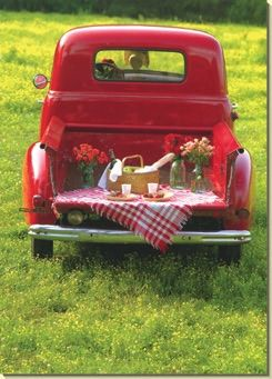 Tail-Gate Party (1 card/1 envelope) - Valentine's Day Card - FRONT: No Text  INSIDE: Here's to an old-fashioned kind of love!  Happy Valenti...