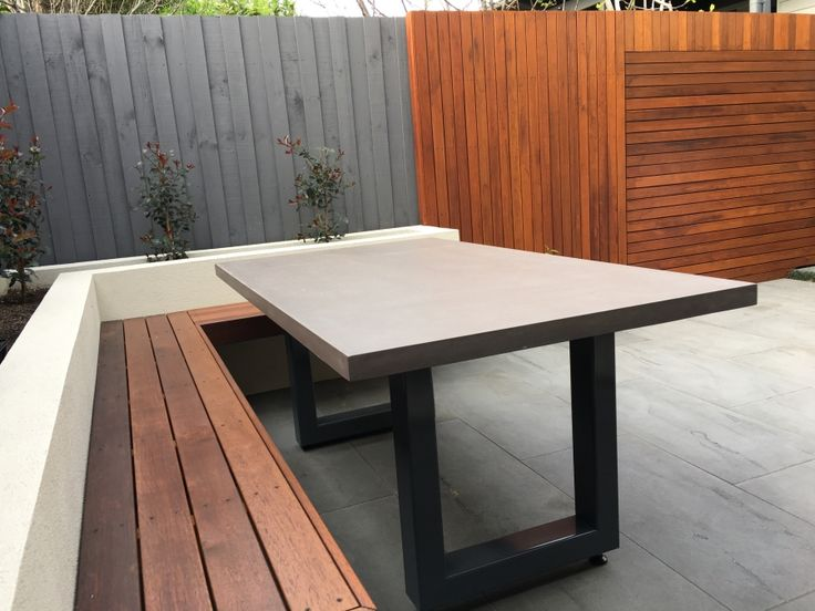 Best 25 Concrete Outdoor Table Ideas Only On Pinterest