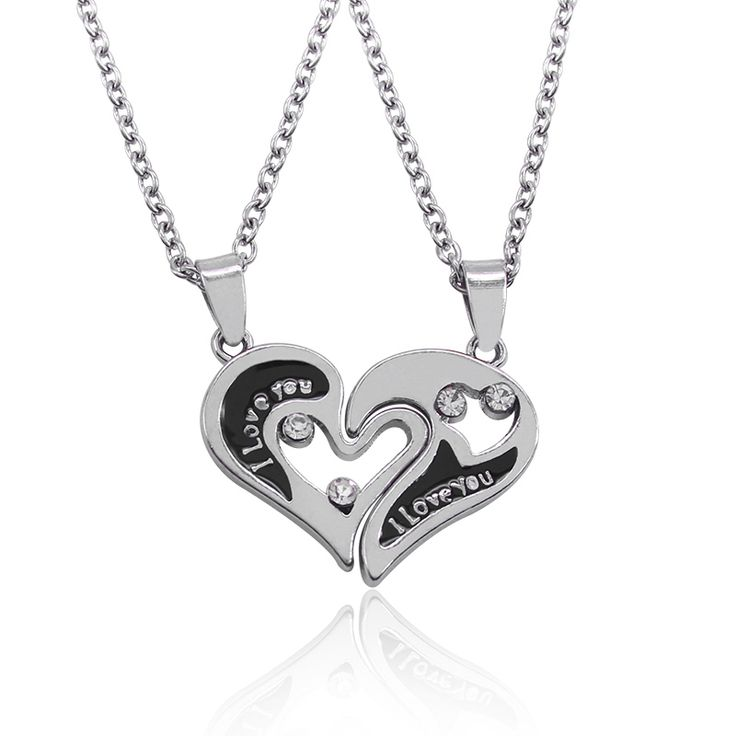 I Love You Heart Shape Pendant Couple Necklaces //Price: $6.00 & FREE Shipping //     #hashtag4