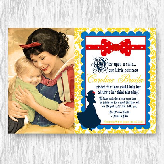 Snow White Invitation for Birthday Party or Baby by BeeAndDaisy, $15.00