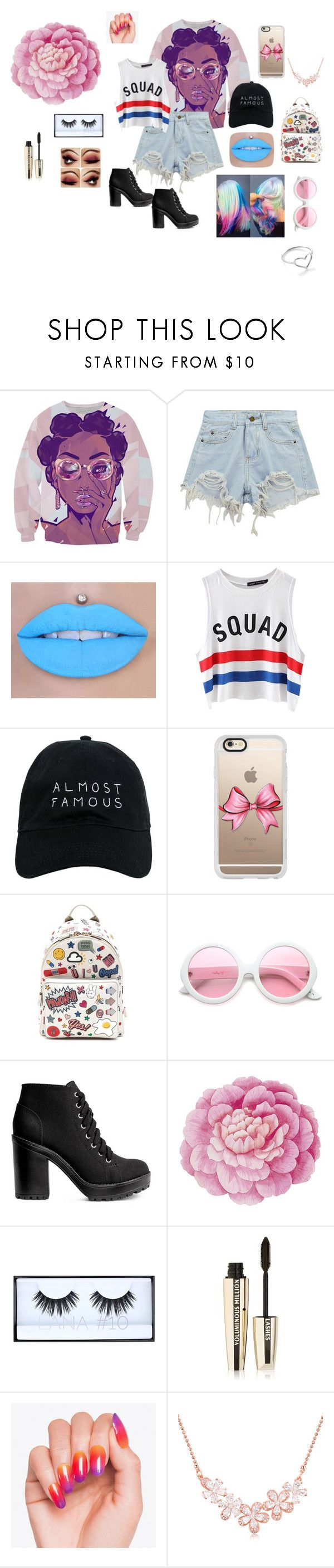 """Almost Famous"" by doggydoo346 ❤ liked on Polyvore featuring Chicnova Fashion, Nasaseasons, Casetify, Anya Hindmarch, ZeroUV, H&M, Ballard Designs, Huda Beauty, L'Oréal Paris and Jordan Askill"