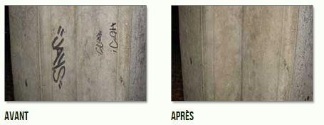 SOLUTION M Un produit anti-graffitis qui nettoie en profondeur toutes traces de marqueurs et de peinture sur les surfaces poreuses (brique, béton, pierre, etc.).