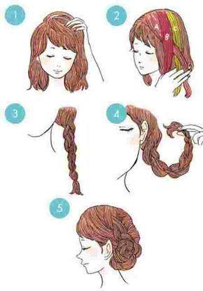 coiffure d'un chignon tressé