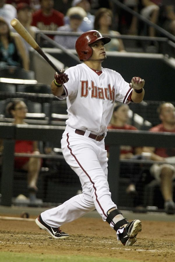 Gerardo Parra hits a solo home run on August 13, 2013