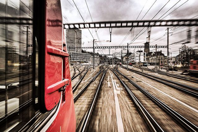 Der Voralpen-Express gerade unterwegs