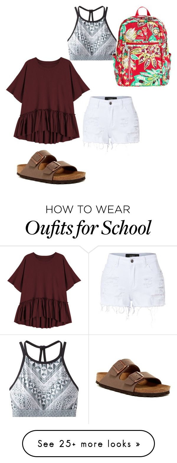 """Untitled #224"" by beddiann on Polyvore featuring prAna, Vera Bradley, LE3NO and Birkenstock"