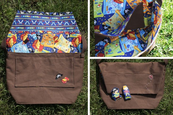 A cute little kid messenger bag (with a free downloadable pattern and a tutorial.)
