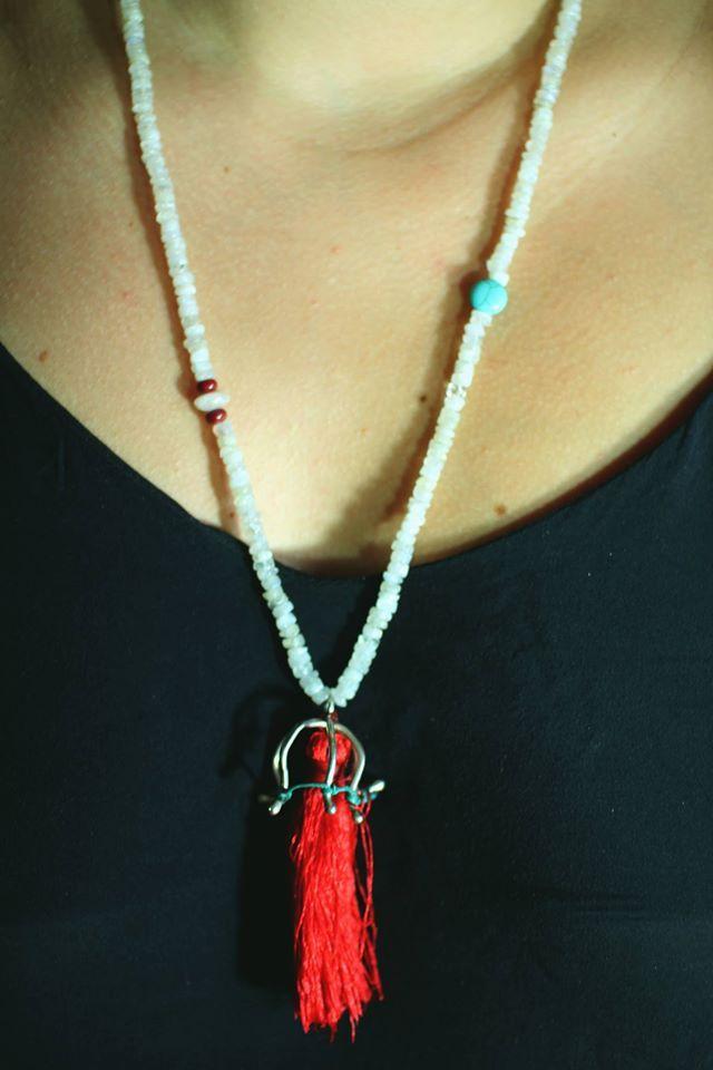 #silver #semiprecious #stones #necklace #summer
