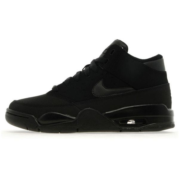 Nike Air Flight Classic Junior ($73) ❤ liked on Polyvore featuring shoes, sneakers, nike, black, kohl shoes, nubuck shoes, woven shoes and nubuck leather shoes