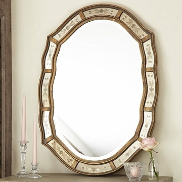 Antique Gold Oval Venetian Mirror | home: hang