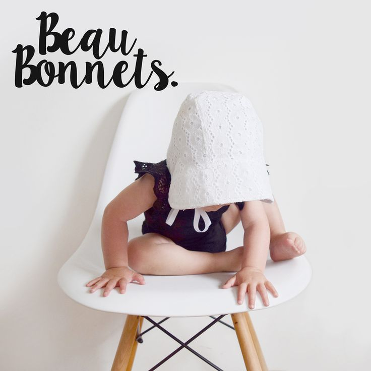 classic and contemporary bonnets for babies and toddlers - made in New Zealand from all natural fibres: Linen, cotton and Merino Wool