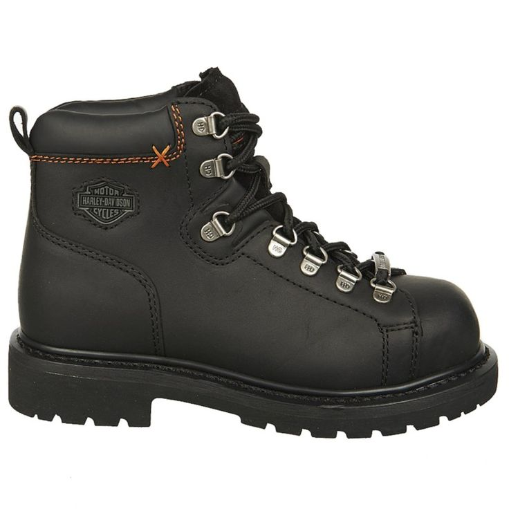 Harley Davidson Women's Gabby Steel Toe Work Boots (Black Leather) - 10.0 M