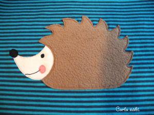 Igel - Applikationsvorlage kostenlos Applique Freebie free Hedgehog Carla näht.