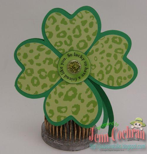 4 Leaf Clover: Green Cheetahs, Shaped Cards, Clovers Shape, 23 Shape, Cut Cafes, Cafes K-Cup, Leaf Clovers, Cheetahs Prints, Shape Cards