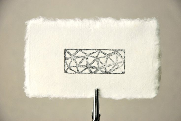 Blank business card size mulberry paper offwhite or