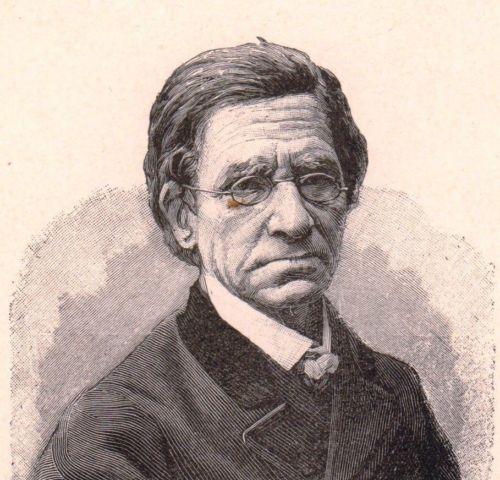 Portrait-XIXe-Portrait-Emile-Littre-Lexcicographie-Lexicographe