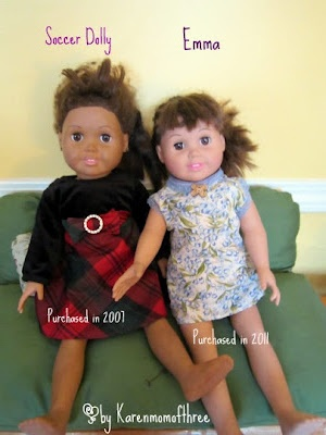 Soccer Dolly's Spa Day - A Springfield Doll Make Over from Karen Mom of Three's Craft Blog