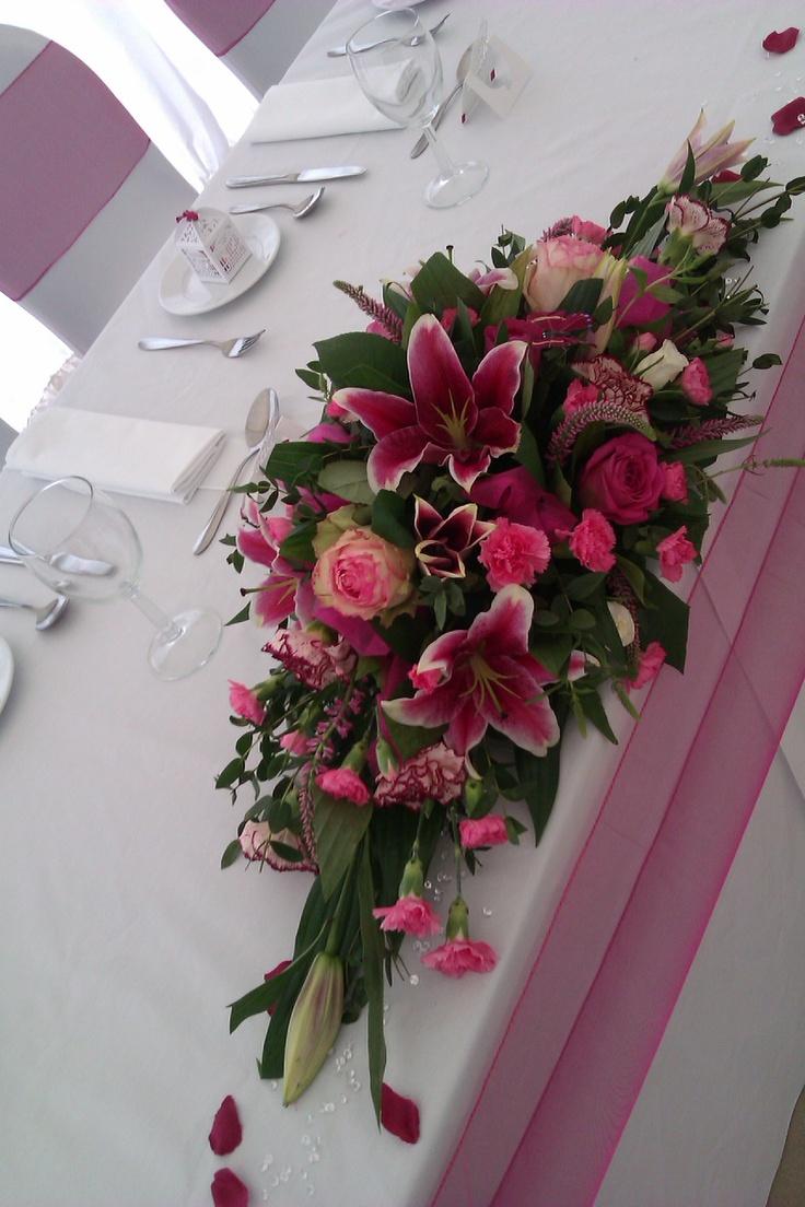 Superior Fresh Flowers For Top Table £35