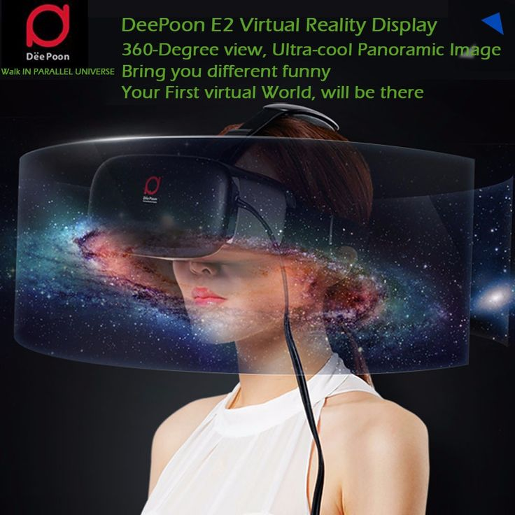 DeePoon E2 Virtual Reality 3D VR Glasses Headset VR Games for Computer