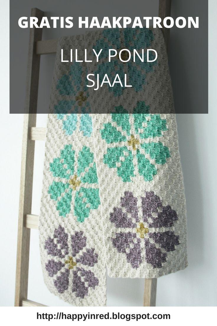 Corner To Corner Haken Patroon.Crochet Pattern C2c Lily Pond Shawl Crochet Haken Haakpatronen