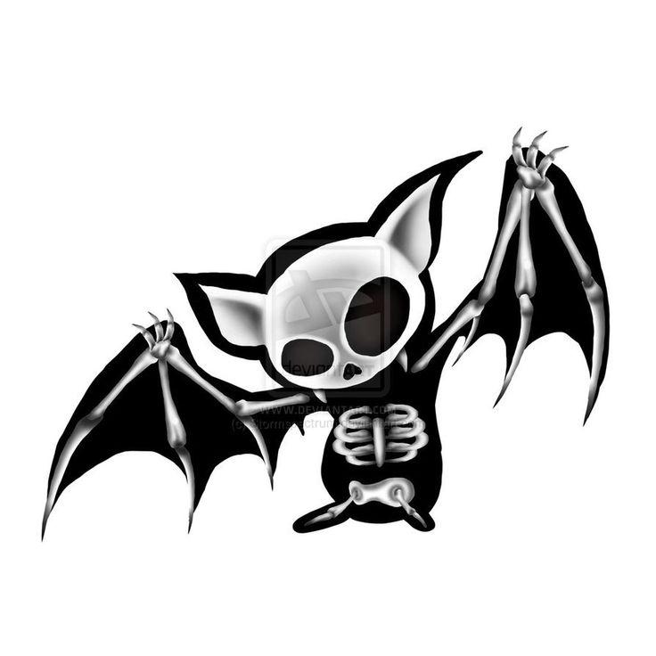 Bat skeleton illustration.