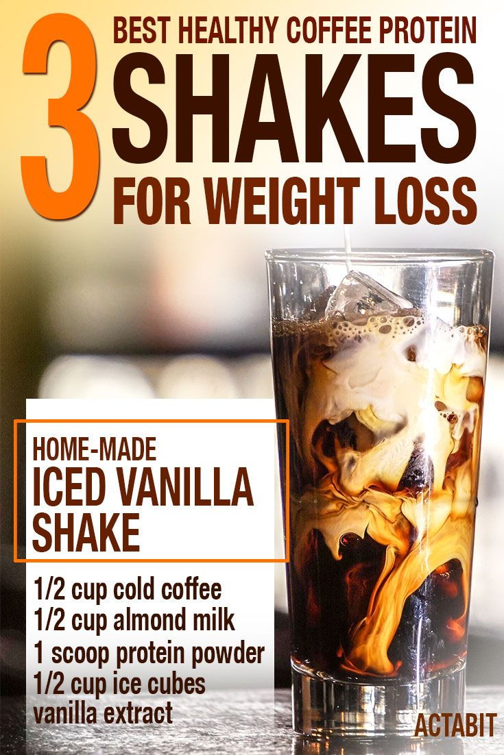 These top 3 iced coffee protein shake recipes for weight loss are low in sugars ...