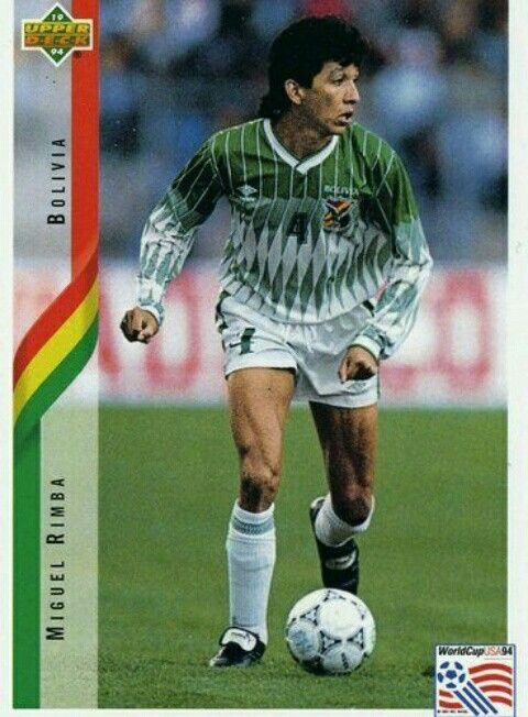 Miguel Rimba of Bolivia - 1994 World Cup Finals card.