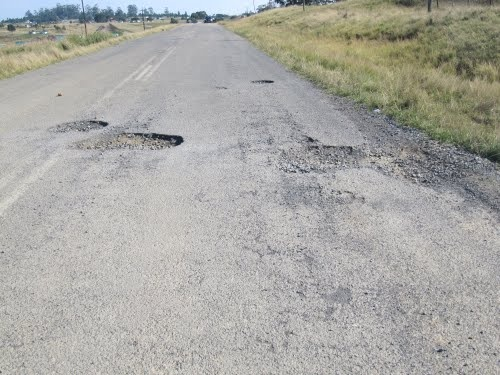 Potholes, potholes and then even more potholes on the road to Coffee Bay