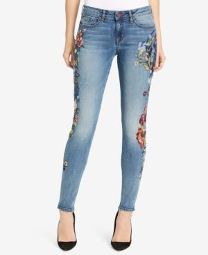 William Rast Embroidered Perfect Skinny Jeans - Blue 27