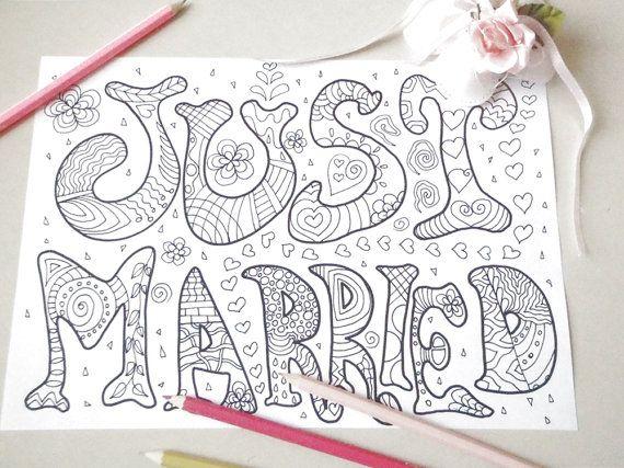 just married da colorare adulti nozze appena di LaSoffittaDiSte