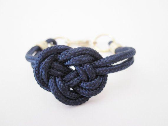 navy nautical knot rope bracelet by telloandrose: Knot Ropes, Bracelets Telloandro, Knot Bracelett, Knot Bracelets, Nautical Knots